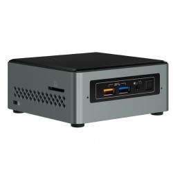 Intel - NUC NUC6CAYSAJ Intel® Celeron® J3455 2 GB DDR3L-SDRAM 32 GB eMMC Negro, Gris Mini PC
