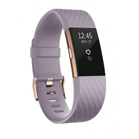 Fitbit - Charge 2 Wristband activity tracker OLED Inalámbrico Oro, Lavanda