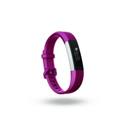 Fitbit - Alta HR OLED Pulsera de actividad Fucsia, Acero inoxidable