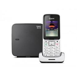 Gigaset - SL450 Analog/DECT telephone Identificador de llamadas Negro, Plata