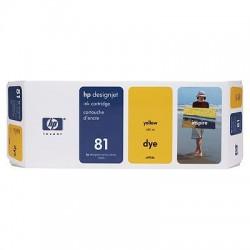 HP - Cartucho de tinta colorante DesignJet 81 amarillo de 680 ml