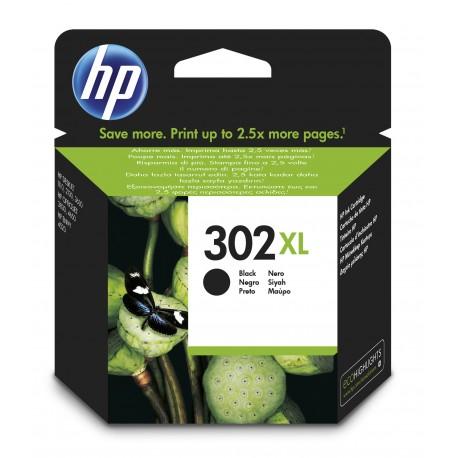 HP - Cartucho de tinta original 302XL de alta capacidad negro