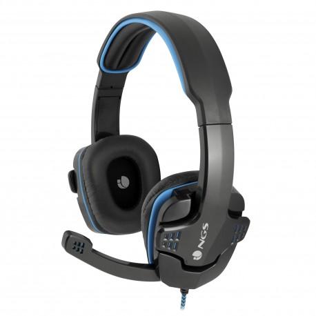 e5acd0d440d NGS - GHX-505 Diadema Binaurale Almbrico Negro Azul auriculares para mvil