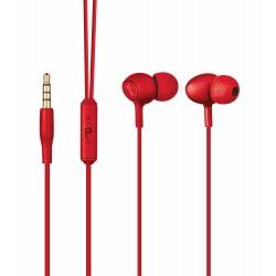 Trust - Ziva Dentro de oído Binaural Alámbrico Rojo auriculares para móvil