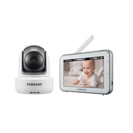 Samsung - SEW-3043W Radio 274.32m Negro, Plata, Color blanco video-monitor para bebés