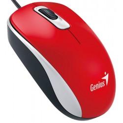 Genius - DX-110 ratón USB Óptico 1000 DPI Rojo