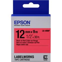 Epson - Cinta color pastel - LK-4RBP negro/rojo pastel 12/9