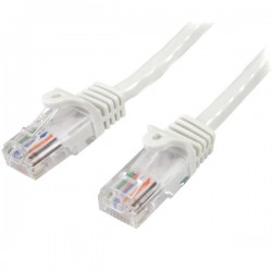 StarTech.com - Cable de Red de 10m Blanco Cat5e Ethernet RJ45 sin Enganches