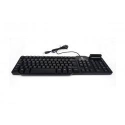 CoolBox - COO-TEC02DNI teclado USB QWERTY Español Negro