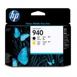 HP - Cabezal de impresión original 940 negro y amarillo