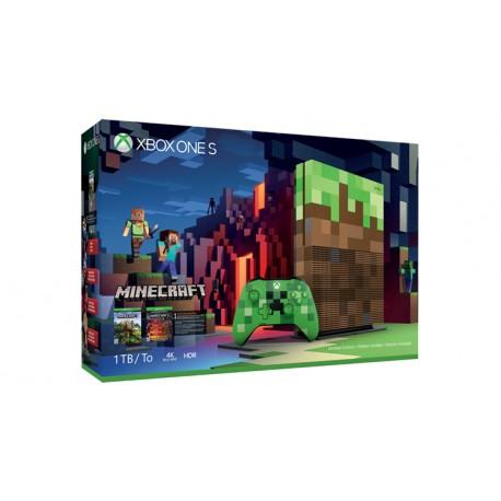 Microsoft - Xbox One S Minecraft Limited Edition Bundle 1TB 1000GB Wifi Blanco