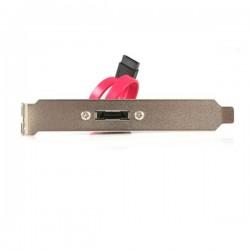 StarTech.com - eSATA Cable with External Slot Plate cable de SATA 0,3 m Negro