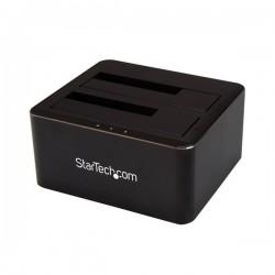 StarTech.com - Docking Station USB 3.0 de 2 Bahías SATA de 2,5 o 3,5 Pulgadas para SSD o Disco Duro Base de Conexión para Unidad