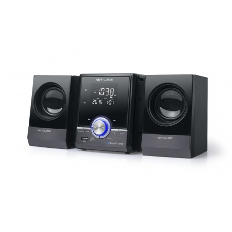 Muse - M-38 BT Home audio micro system 10W Negro sistema de audio para el hogar