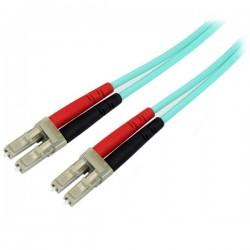 StarTech.com - Cable de 2m de Fibra Óptica Dúplex Multimodo OM4 de 100Gb 50/125 LSZH LC a LC - Aguamarina