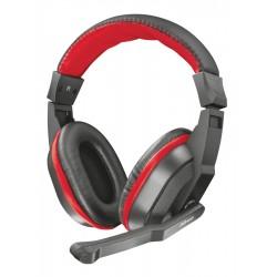 Trust - 21953 auricular y casco Auriculares Diadema Negro, Rojo