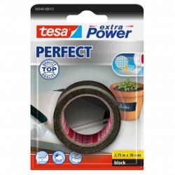 TESA - extra Power Perfect 2.75m Tela Negro 1pieza(s) cinta adhesiva de papelería y oficina
