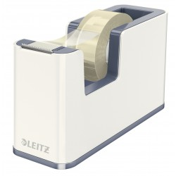 Leitz - WOW Poliestireno Metálico, Color blanco cinta adhesiva