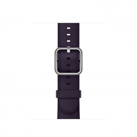 Apple - MQV12ZM/A Grupo de rock Berenjena Cuero accesorio de relojes inteligentes