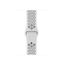 Apple - MQWH2ZM/A accesorio de relojes inteligentes Grupo de rock Negro, Platino Fluoroelastómero