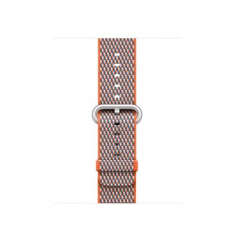 Apple - MQVE2ZM/A Grupo de rock Gris, Naranja Nylon accesorio de relojes inteligentes