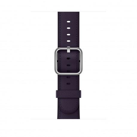 Apple - MQV42ZM/A Grupo de rock Berenjena Cuero accesorio de relojes inteligentes