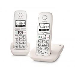 Gigaset - E260 Duo Analog/DECT telephone Blanco Identificador de llamadas