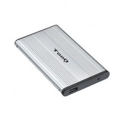 """TooQ - CAJA HDD 2,5"""" SATA A USB 2.0 PLATA"""