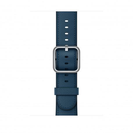 Apple - MQV32ZM/A Grupo de rock Azul Cuero accesorio de relojes inteligentes