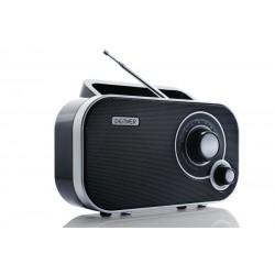 Denver Electronics - TR-54 Portátil Analógica Negro, Plata radio