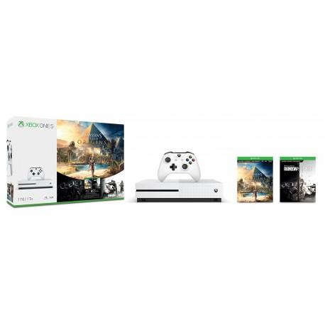 Microsoft - Xbox One S 1TB Assassin's Creed Origins Bundle 1000GB Wifi Blanco