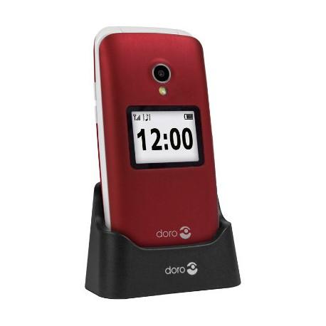 """Doro - 2424 2.4"""" 92g Rojo Teléfono para personas mayores"""
