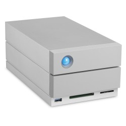 LaCie - 2big Dock Thunderbolt 3 unidad de disco multiple 20 TB Escritorio Gris