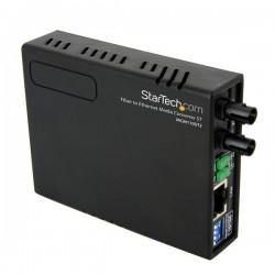 StarTech.com - Conversor de Medios Ethernet 10/100 RJ45 a Fibra Óptica Multimodo ST - 2Km