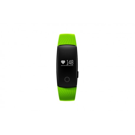 "Denver - BFH-12GREEN Wristband activity tracker 0.49"" OLED Inalámbrico Negro rastreador de actividad"
