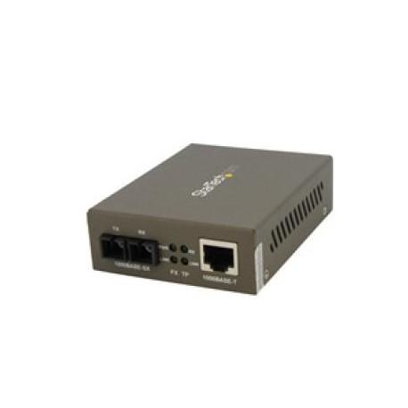 StarTech.com - Conversor de Medios Gigabit Ethernet RJ45 a Fibra Óptica SC Multimodo - 550m