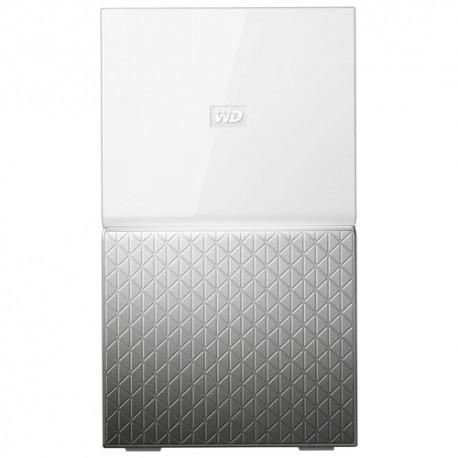 Western Digital - MY CLOUD HOME Duo 6 TB 6TB Ethernet Plata, Color blanco dispositivo de almacenamiento personal en