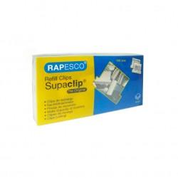 Rapesco - Supaclip 60 100pieza(s) Acero inoxidable pinza sujetapapel