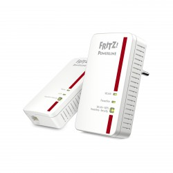 AVM - FRITZ!Powerline 1240E WLAN 1200 Mbit/s Ethernet Wifi Rojo, Blanco 2 pieza(s)