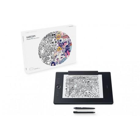 Wacom - Intuos Pro Paper L South 5080líneas por pulgada 311 x 216mm Negro tableta digitalizadora