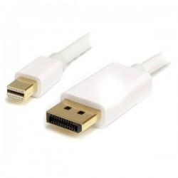 StarTech.com - Cable Adaptador de 3m de Monitor Mini DisplayPort 1.2 Macho a DP Macho - 4k Blanco
