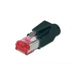 ASSMANN Electronic - CAT6 RJ-45 Negro, Rojo conector