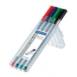 Staedtler - 334 SB4 Negro, Azul, Verde, Rojo 1pieza(s) pluma estiligráfica