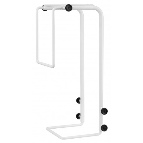 R-Go Tools - Steel Basic Soporte de CPU, ajustable, blanco