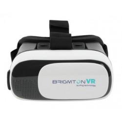 Brigmton - BRV 100 Gafas de realidad virtual 330g Negro, Blanco