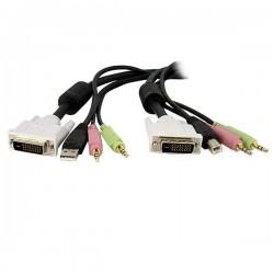 StarTech.com - Cable de 3m para Switch Conmutador KVM 4en1 DVI-D Dual Link Doble Enlace USB con Audio Micrófono