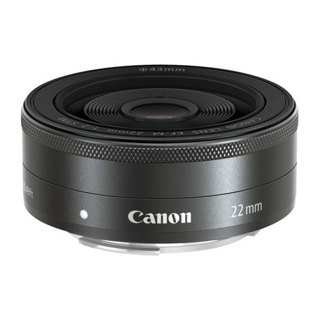 Canon - EF-M 22mm f/2 STM Objetivo ancho Negro