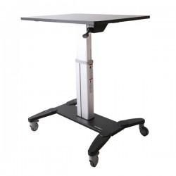 StarTech.com - Estación de Trabajo Móvil de Pie y Sentado con Superficie de 80cm - de Altura Ajustable - Escritorio Móvil