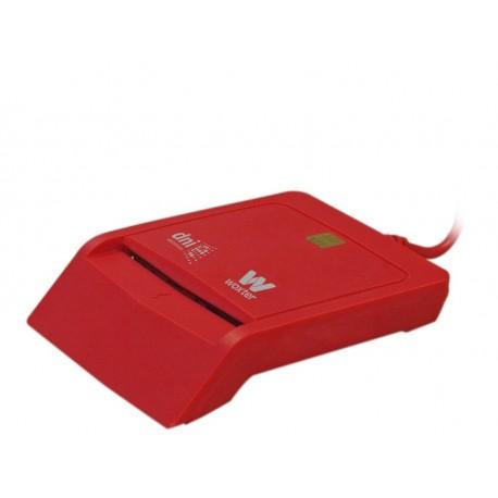 Woxter - PE26-145 Interior USB 2.0 Rojo lector de tarjeta inteligente