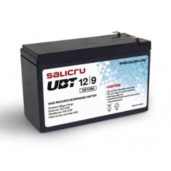 Salicru - UBT 12/9 - Batería AGM recargable de 9 Ah